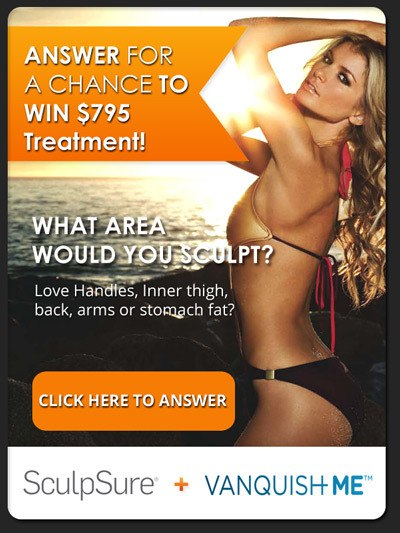 Win Free $795 SculpSure or Vanquish Treatment Card in Palm Beach